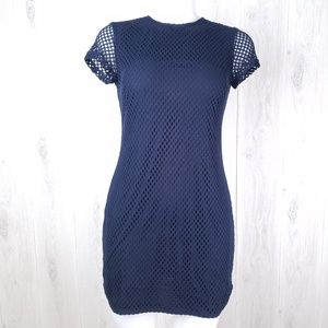 Banana Republic Blue Sheath Dress Crochet Lace